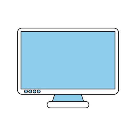 monitor: computer monitor icon image vector illustration design sketch style