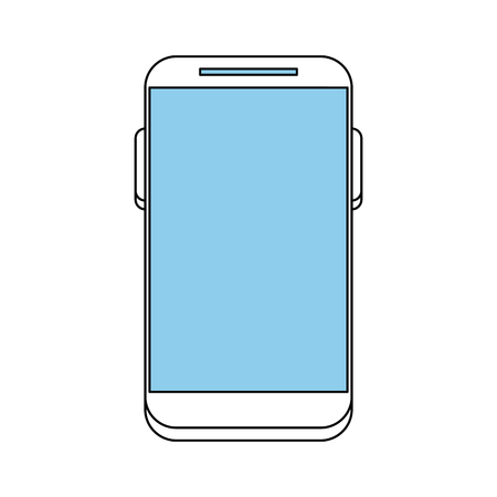 smartphone: smartphone with blank screen icon image vector illustration design sketch style Illustration