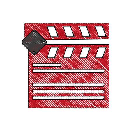 clapperboard cinema icon image vector illustration design Illustration