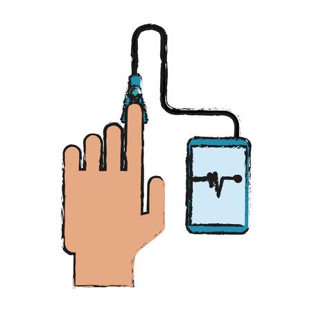 monitor: glucometer healthcare icon image vector illustration design