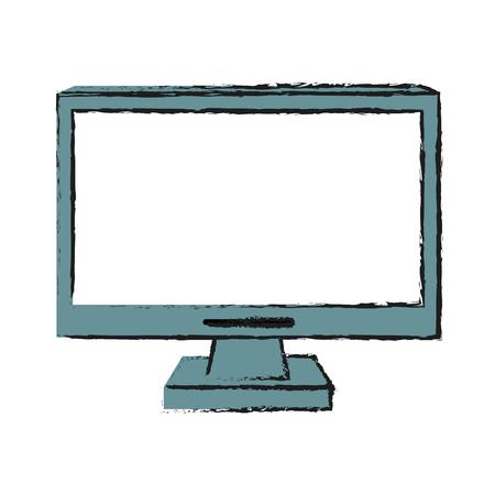 monitor: computer monitor cursor icon image vector illustration design Illustration