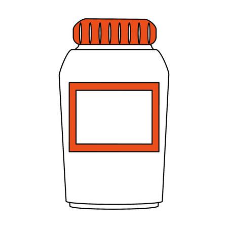pharmacy symbol: medication pills flask icon image vector illustration design