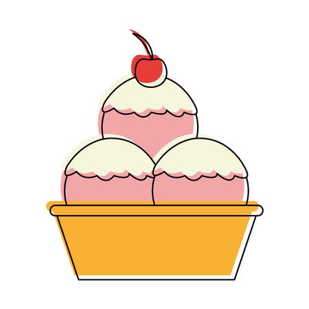 ice cream cone icon image vector illustration design