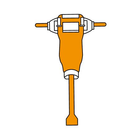 油圧ブレーカの構造関連アイコン画像ベクトルイラストデザイン