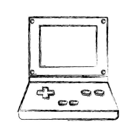 mobile device: Portable videogame console icon vector illustration graphic design