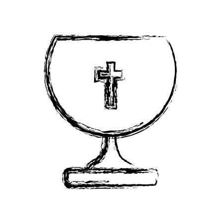 Het heilige grafische ontwerp van de pictogram vectorillustratie grafische kelk