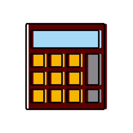 mathematics: Calculator isolated symbol icon vector illustration graphic design