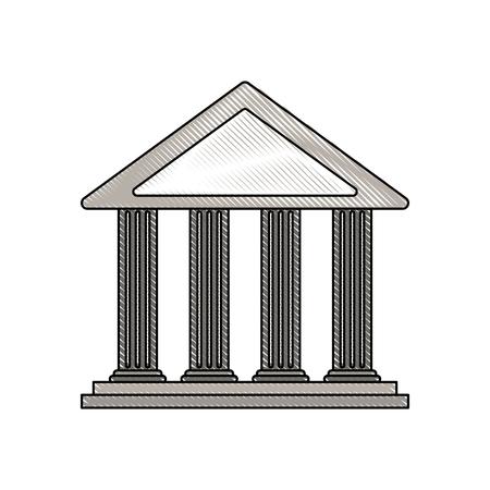 Ancient Greek building icon image illustration design.