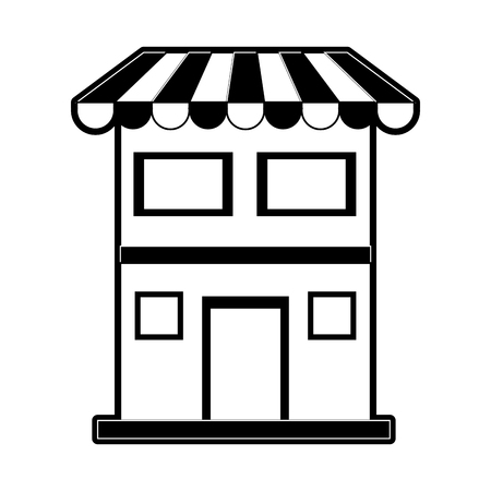 merchant: Store or shop icon image illustration design  black and white. Illustration