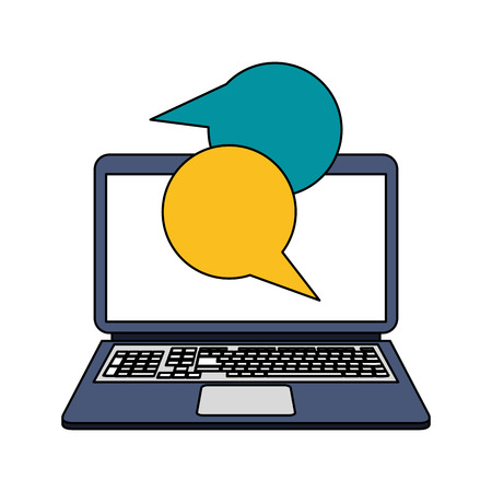 questions: Computer instant message conversation icon image vector illustration design