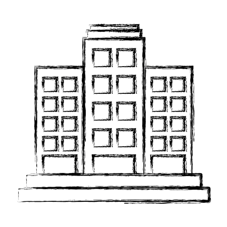 window view: Building towers isolated icon vector illustration graphic design