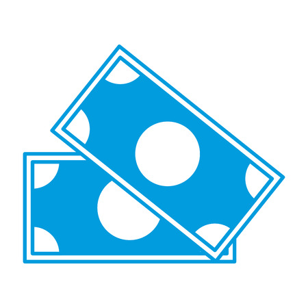 cash: Money billet isolated icon vector illustration graphic design