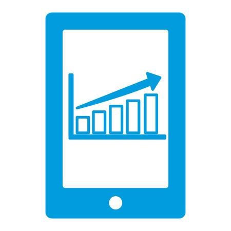 smartphone: Bars stats graphic icon vector illustration graphic design