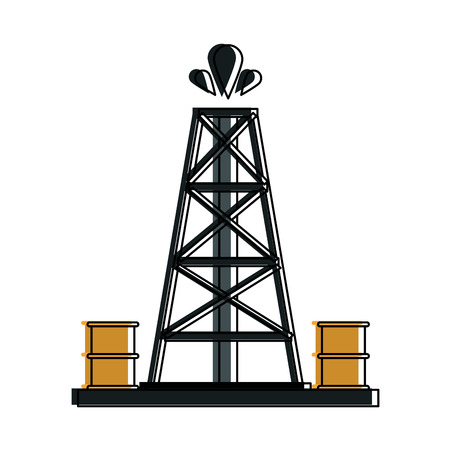 extraction platform oil industry icon image vector illustration design