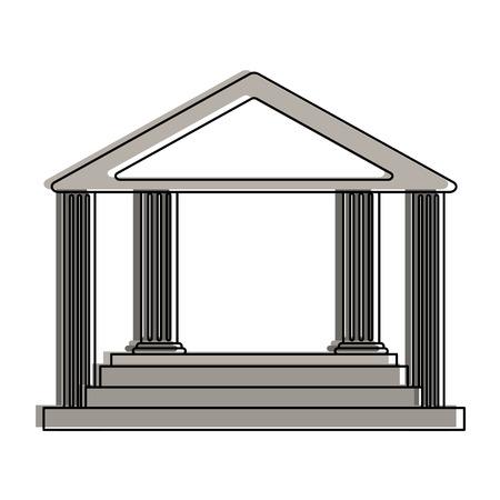 ancient greek building icon image vector illustration design