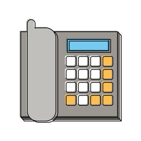 mobile communication: office landline phone icon image vector illustration design