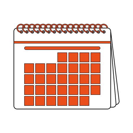 calendar design: Cartoon illustration of blank calendar icon image. Illustration