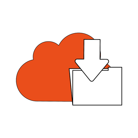 Cloud computing technology icon illustration graphic design