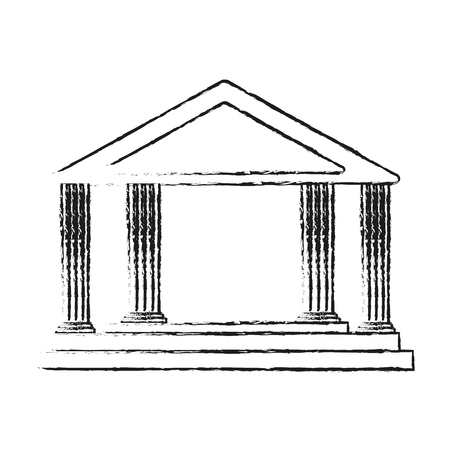 traditional culture: ancient greek building icon image vector illustration design
