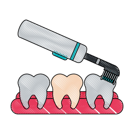 brush dentistry instrument icon image vector illustration design