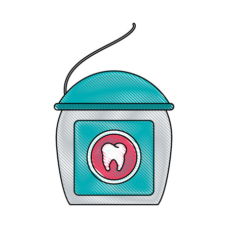 floss dental care icon image vector illustration design