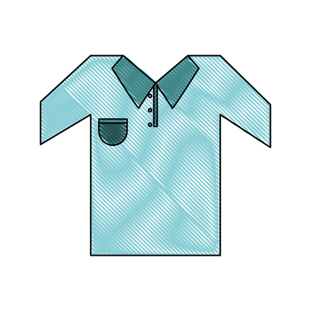 outfit or uniform golf related icon image vector illustration design Illustration