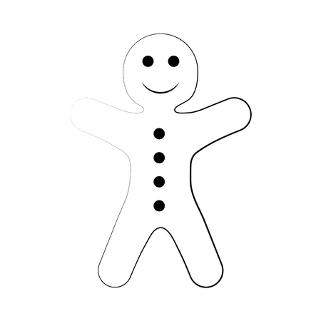 gingerbread man pastry icon image vector illustration design