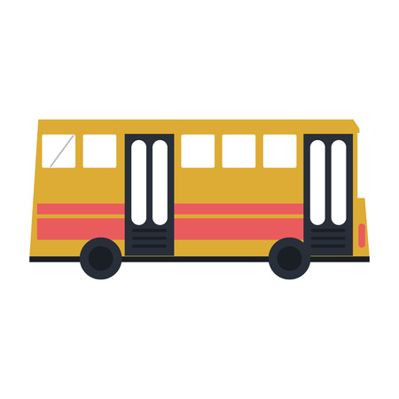 car isolated: bus sideview  icon image vector illustration design Illustration