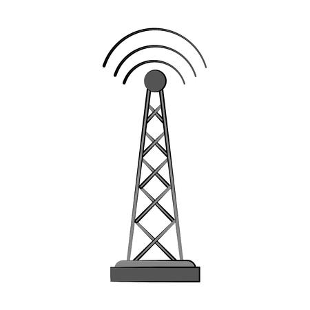 Antenne telecommunicatie pictogram afbeelding vector illustratie ontwerp Stockfoto - 85996215