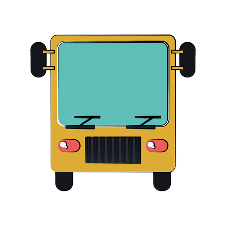 bus frontview icon image vector illustration design Illustration