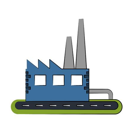 industrial factory icon image vector illustration design Illustration