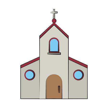 gods: catholic church or chapel icon image vector illustration design Illustration