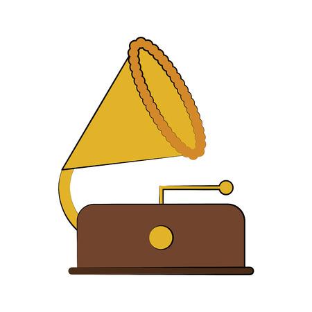 gramophone music icon image vector illustration design Illustration