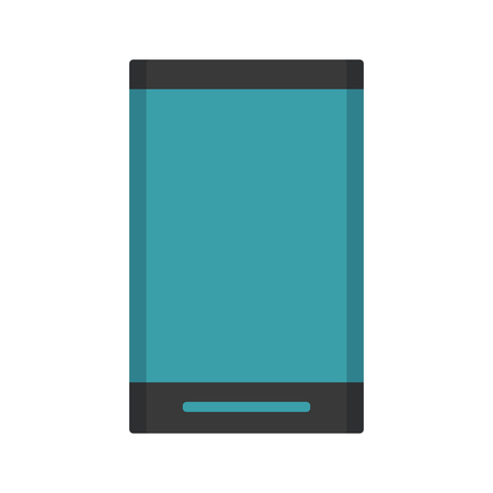 mobile communication: smartphone with blank screen  icon image vector illustration design Illustration