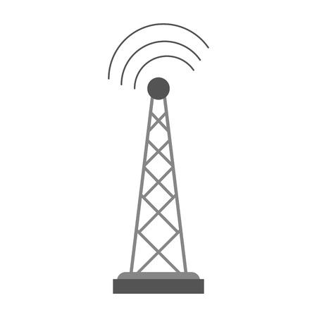 Antenne telecommunicatie pictogram afbeelding vector illustratie ontwerp Stockfoto - 85996258