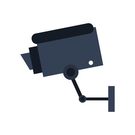 monitor: surveillance camera sideview icon image vector illustration design Illustration