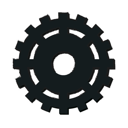 gears: Gear machinery piece icon vector illustration graphic design