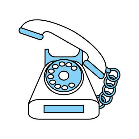 modern office: Phone icon Device call telephone and communication theme Isolated design Vector illustration