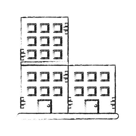 city building: old brick building icon image vector illustration design Illustration