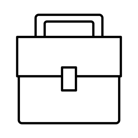 modern office: Business briefcase isolated icon vector illustration graphic design Illustration