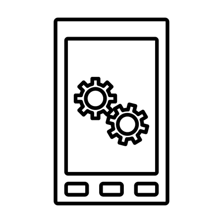 phone: Smartphone mobile technology icon vector illustration graphic design