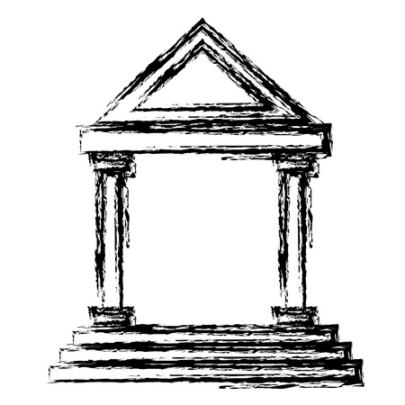 Antique greek building icon vector illustration graphic design Çizim