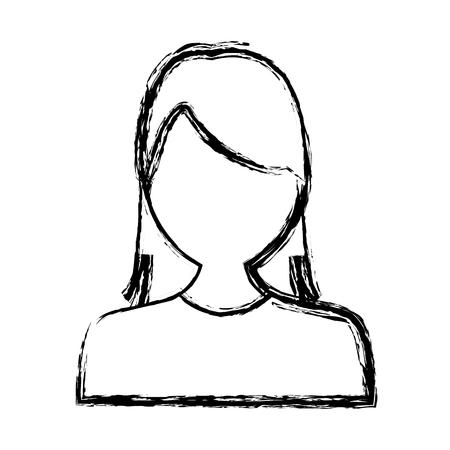 Woman avatar profile icon vector illustration graphic design