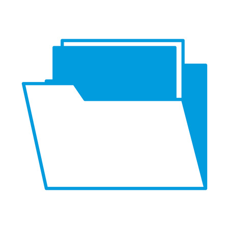 storage: Folder open symbol icon vector illustration graphic design