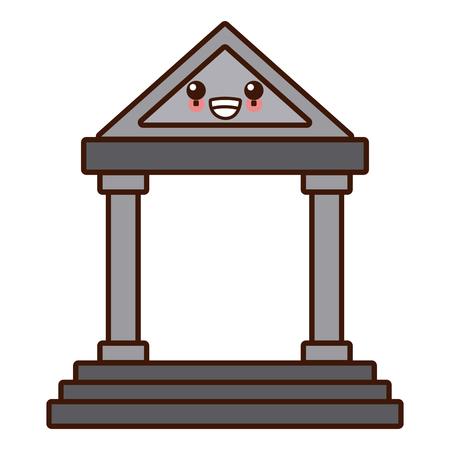 Antique greek building icon vector illustration graphic design Illustration