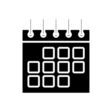 numbers: Calendar Event symbol icon vector illustration graphic design Illustration