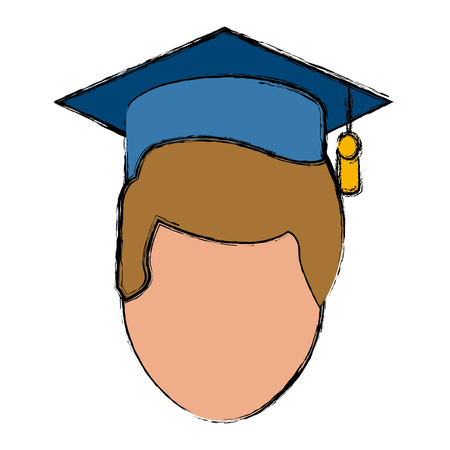 Student graduation cartoon icon vector illustration graphic design