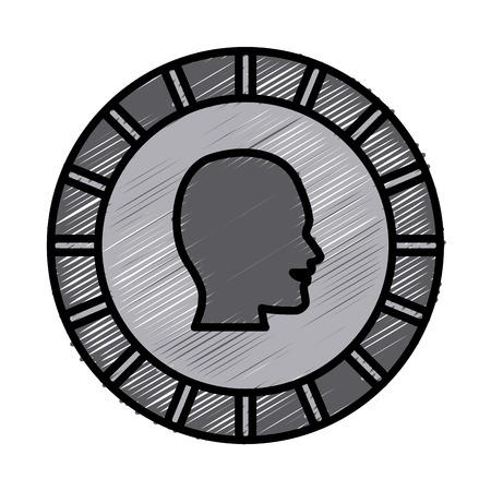 cash: Coin money symbol icon vector illustration graphic design