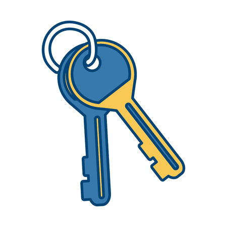grooves: Door keys isolated icon vector illustration graphic design