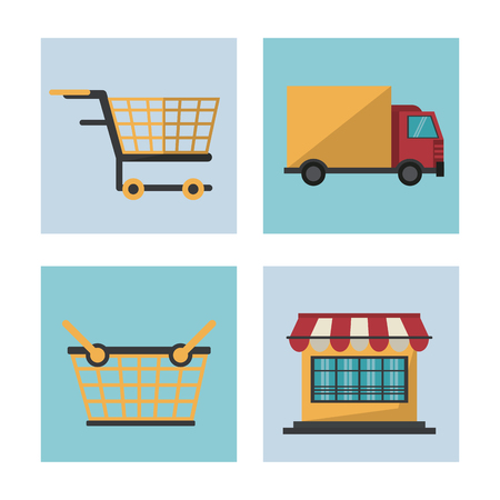 cash: Shopping online icons icon vector illustration graphic design